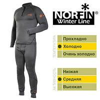 Термобелье флис. Norfin WINTER LINE GRAY (серый 1-й,2-й слой) S / * 20
