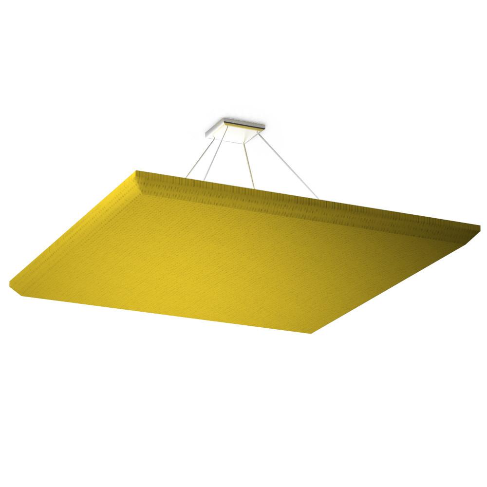 Акустическая подвесная звукопоглощающая панель Quadro yellow