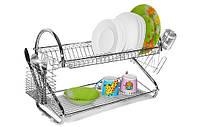 Сушилка для посуды двухуровневая МК-1002SB