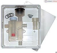 Встроенный сифон для слива воды от кондиционеров  с монтажной коробкой  Vecamco