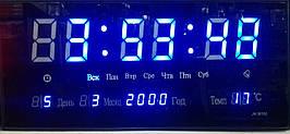 Часы  большие светодиодные 3615-4blue   .dr