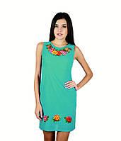 Модный женский сарафан с вышивкой В1051-4