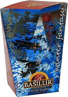 Черный чай Basilur Зимняя снежинка картон 85 г Зимняя фантазия