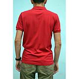 Красная мужская футболка поло из хлопка ZERMON, фото 2
