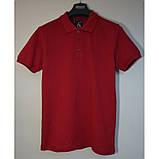 Красная мужская футболка поло из хлопка ZERMON, фото 3