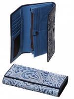 Женский кожаный синий кошелек Cossroll