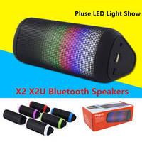 Мини-динамик колонка Bluetooth X2U Pulse 2 (черный, красный, белый, сиреневый)