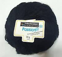 Нитки для вязания шерсть акрил пряжа Черная