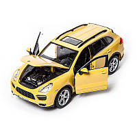 Автомодель - PORSCHE CAYENNE TURBO (ассорти белый, желтый, 1:24) (18-21056)