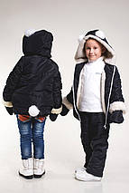 """Детская зимняя куртка для девочки """"Зайчик"""" с варежками и капюшоном (3 цвета), фото 3"""