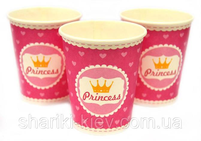 Набор стаканчиков Принцесс 10 шт. бумажные на День рождения, фото 2