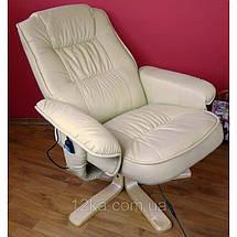 Массажное кресло + пуф REGOline с подогревом бежевое, фото 2