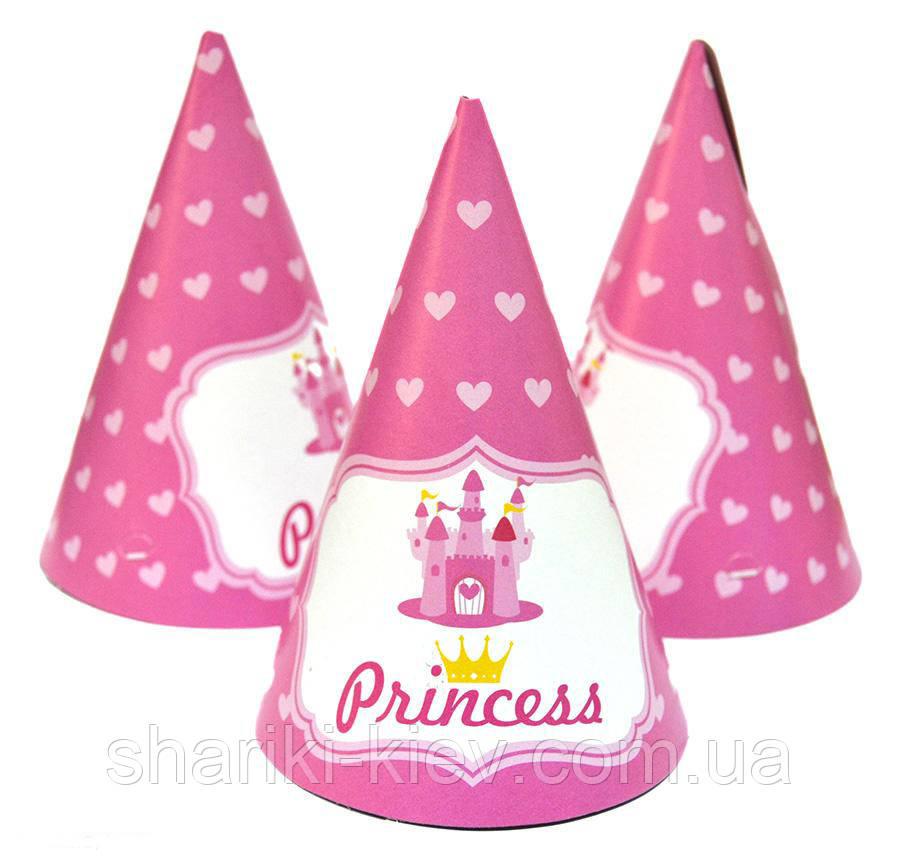 Колпачки Принцесс 10 шт. бумажные на День рождения