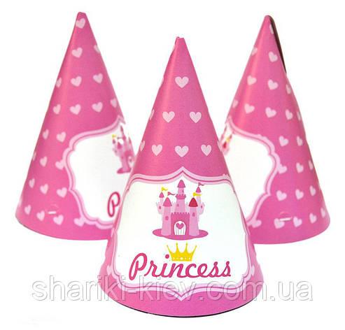 Колпачки Принцесс 10 шт. бумажные на День рождения, фото 2