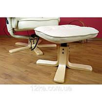Массажное кресло + пуф REGOline с подогревом бежевое, фото 3