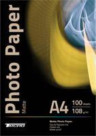 Фотобумага матовая Tecno 108g/m, A4 100л