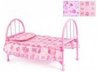Кроватка 9342 / WS 2772 для куклы,жел,45-32-25см в кульке