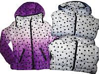 Курточка с капюшоном для девочек, Glo-story, размеры 134/140-170.арт. GMA-3372