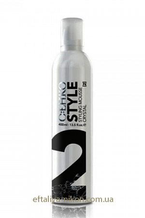 Пена-мусс для волос Кристалл нормальной фиксации №2 C:EHKO