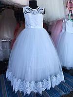 """Бальное платье на 6-8 лет """"Снежинка"""""""
