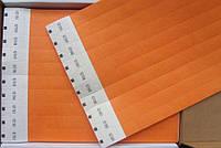 Контрольные браслеты на руку TYVEK оранж