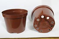 Горшок для рассады 1л,(13x10,4см),терракотовый, 500 шт\уп (пр. Польша (Kloda)