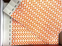 Контрольные браслеты на руку TYVEK оранж шахматы
