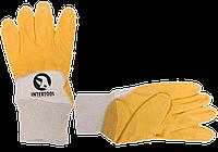 Перчатки Нитрил Intertool G желтые 1й сорт 9 размер