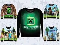 """Детский свитшот-3D """"Minecraft """" (р.116-152)"""