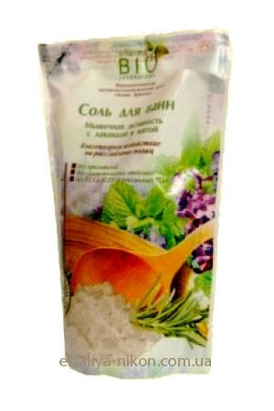 Соль для ванн Мышечная активность с лавандой и мятой BIO pharma Laboratory
