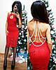 Женское красивое платье,голая спина+бусы,разные цвета.