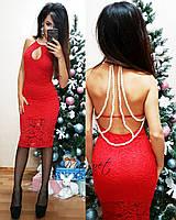 Женское красивое платье,голая спина+бусы,разные цвета., фото 1