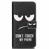 Чехол книжка для LG Nexus 5X H791 боковой с отсеком для визиток, Не трогай мой телефон