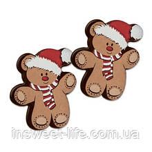 Новогодний медвеженок с мастики  100 шт/упаковка