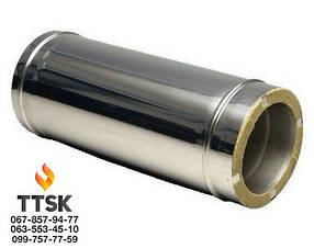 Труба из нержавеющей стали с термоизоляцией в оцинкованном кожухе