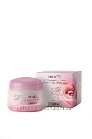 Крем для лица 24 часа Увлажнения Rose&Pearl Rosa Impex