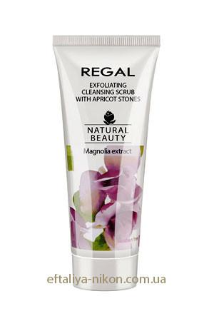 Эксфолиирующий очищающий скраб с абрикосовыми косточками REGAL Natural Beauty для всех типов кожи Rosa Impex