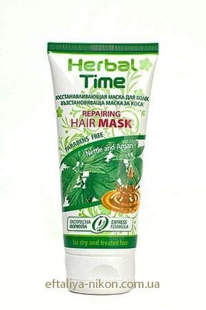 Восстанавливающая маска для сухих и поврежденных волос HERBAL TIME Rosa Impex