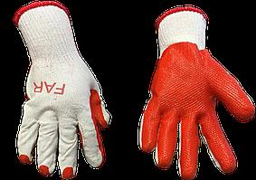Перчатки садовые красные