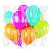 Воздушные шарики Gemar АF70 неон ассорти, 7' (19 см) 100 шт