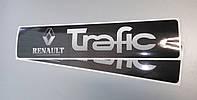 Наклейки на порожки (ЧЕРНО-СЕРЫЕ) на Renault Trafic 2001-> — Украина - TN105
