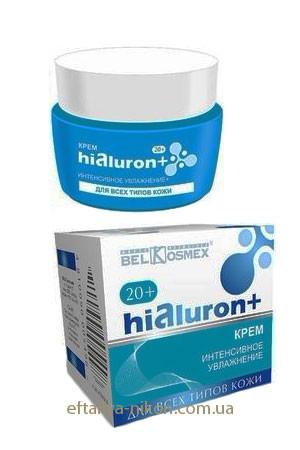 Крем для лица Hialuron+ (20+) Интенсивное увлажнение для всех типов кожи BEL KOSMEX