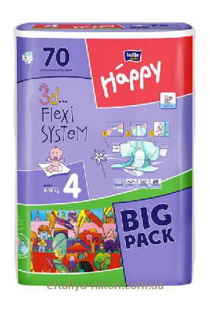 Памперс Happy bella №4 (7-18 кг) макси+ 70 шт.
