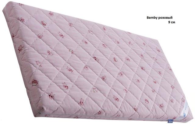 Матрас BEMBY / БЕМБИ, розовый высота 9 см