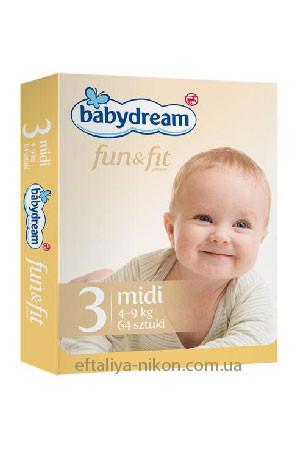 Памперс Babydream №3 (4-9 кг) 64 шт.