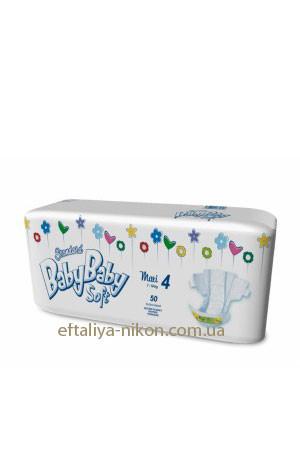 Памперс BabyBaby maxi №4 (7-18 кг) 50 шт.