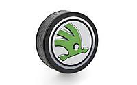 Хоккейная шайба с логотипом Skoda