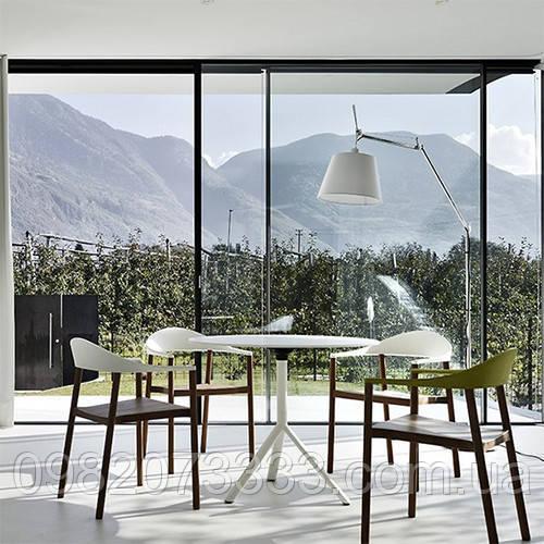 Архитектурное тонирование стёкол зеркальной солнцезащитной плёнкой Armolan R Silver 50