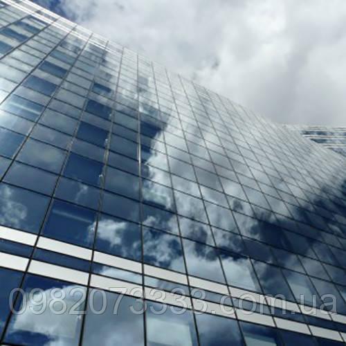 Архітектурне тонування стекол дзеркальної сонцезахисною плівкою Sun Control R Silver 20