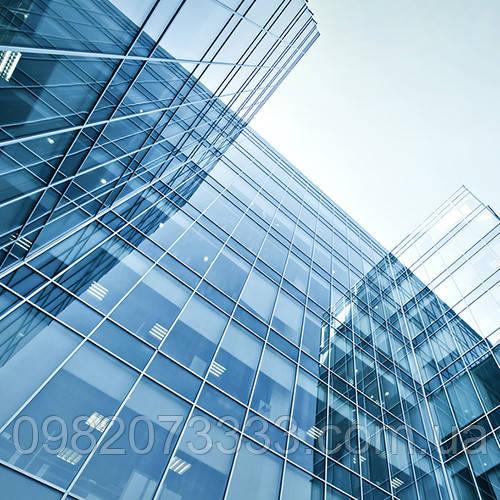Архітектурне тонування стекол дзеркальної сонцезахисною плівкою Sun Control R Silver 35